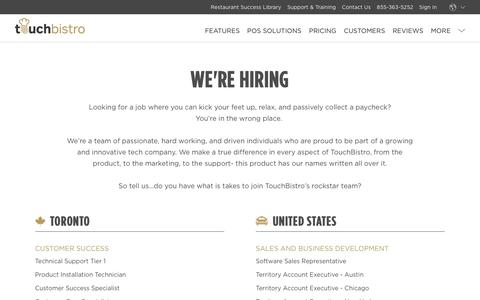 Careers at TouchBistro - We Are Hiring. Apply Today.