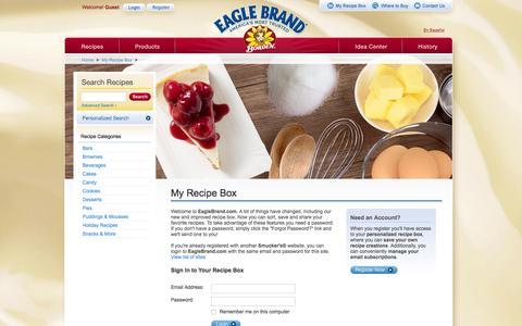 Screenshot of Login Page eaglebrand.com - Log In to Eagle Brand Recipe Club - Eagle Brand - captured Feb. 4, 2016