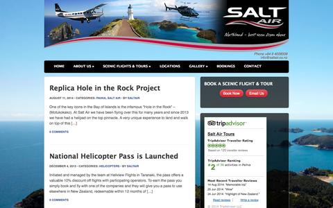 Screenshot of Blog saltair.co.nz - Salt Air Blog with Latest News and Updates - captured Sept. 30, 2014