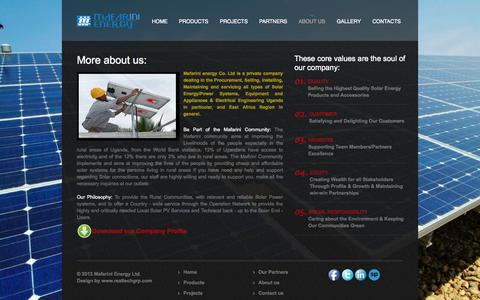 Screenshot of About Page Team Page mafarinienergy.ug - About us - captured Oct. 4, 2014
