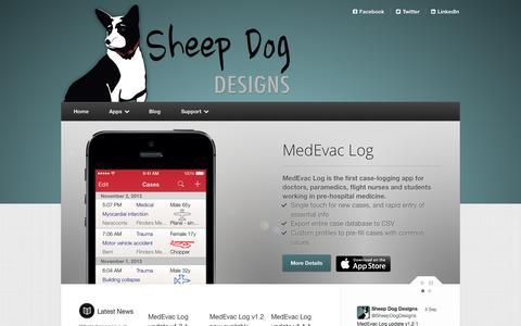 Screenshot of Home Page sheepdogdesigns.com - Home | Sheep Dog Designs - iPhone Apps - captured Sept. 30, 2014
