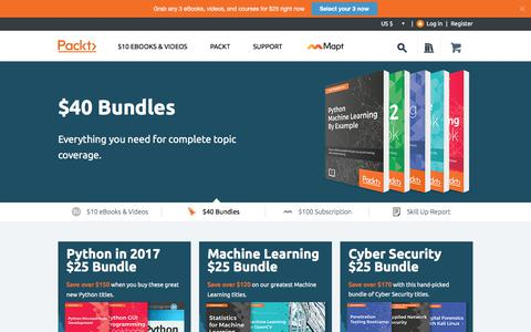 Screenshot of Home Page packtpub.com - Packt Publishing | Technology Books, eBooks & Videos | - captured July 28, 2017