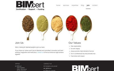 Screenshot of Signup Page bimcert.org - BIM Cert > Join - captured Oct. 5, 2014