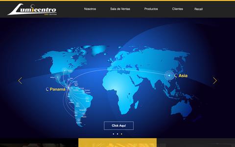 Screenshot of Home Page lumicentro.com - Iluminación | Lumicentro Internacional | Panamá - captured Sept. 30, 2018