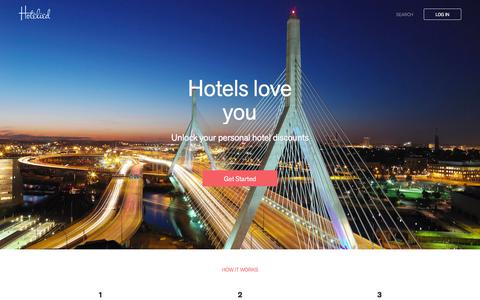 Screenshot of Home Page hotelied.com - Hotelied - captured Feb. 2, 2016