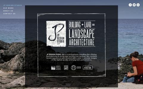 Screenshot of Home Page jpstudiollc.com - JP Design Studio - captured Oct. 4, 2014