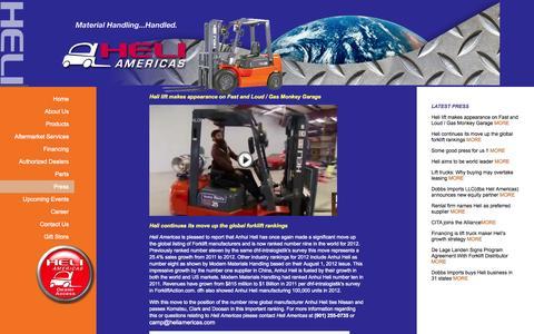 Screenshot of Press Page heliamericas.com - Heli Americas | Dealers - captured Sept. 29, 2014