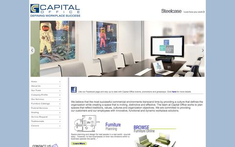 Screenshot of Home Page capital-office.com - Capital Office - captured Sept. 27, 2014