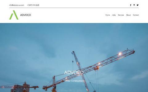 Screenshot of Home Page advoco.us.com - Home | Advoco - captured Dec. 18, 2018