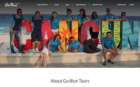 Screenshot of About Page gobluetours.com - About Go Blue - captured Nov. 5, 2018