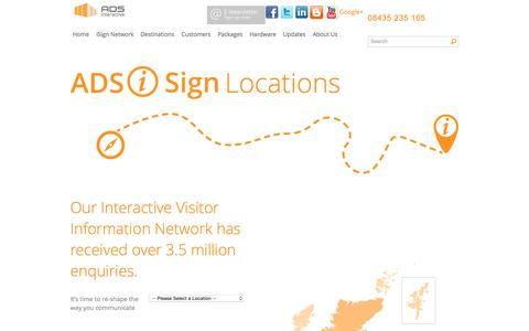 Screenshot of Locations Page ads-digital.net - ADS Interactive I Sign Locations | ADS Interactive - captured Aug. 5, 2015