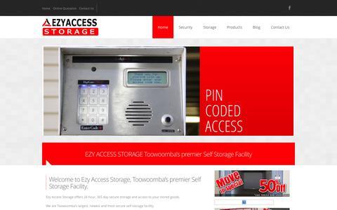 Screenshot of Home Page ezyaccessstorage.com.au - Home | Ezy Access Storage - captured Sept. 30, 2014