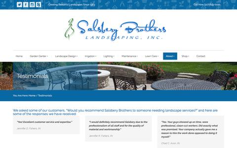 Screenshot of Testimonials Page salsberybros.com - Testimonials | Salsbery Brothers - captured Nov. 18, 2016