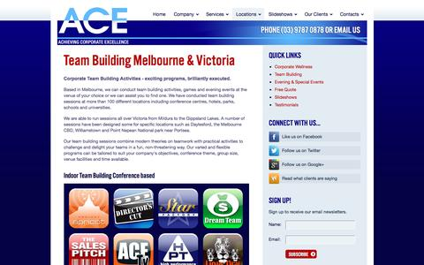 Screenshot of Locations Page acetraining.com.au - Locations | A.C.E. - captured Nov. 16, 2016