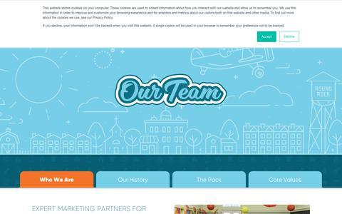 Screenshot of About Page hotdogmarketing.net - About Us - Hot Dog Marketing - captured Aug. 22, 2019
