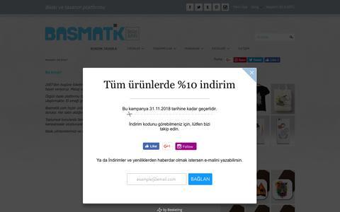 Screenshot of About Page basmatik.com - Biz kimiz? - captured Nov. 19, 2018