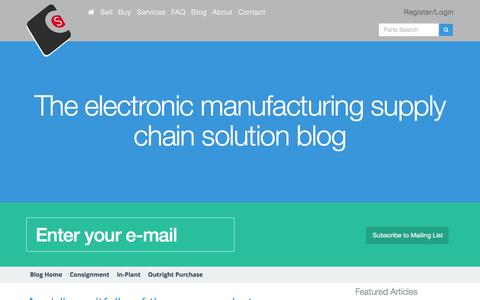 Screenshot of Blog componentsense.com - Supply Chain Solutions Blog | Component Sense - captured Dec. 10, 2015
