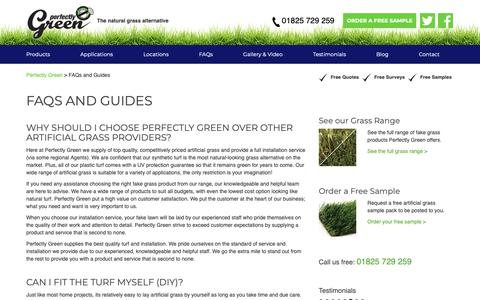Screenshot of FAQ Page perfectlygreen.co.uk - Artificial Grass FAQ and Guides - What You Need to Know - captured Sept. 27, 2018