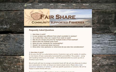 Screenshot of FAQ Page fairsharecsf.com captured Oct. 5, 2014
