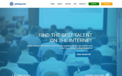 Screenshot of Home Page jobssy.com - Jobssy.com - Buscador de Talento y Personas   Jobssy - captured Sept. 30, 2014