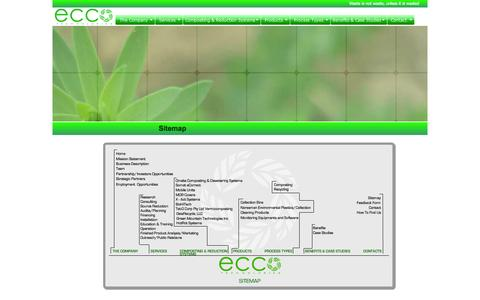 Screenshot of Site Map Page ecco-technologies.com - Welcome to Ecco Technologies - 100% Waste Management in California - captured July 11, 2016