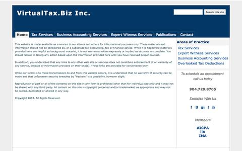 Screenshot of Terms Page virtualtax.biz - Terms and Conditions - VirtualTax.Biz Inc. - captured Oct. 26, 2014