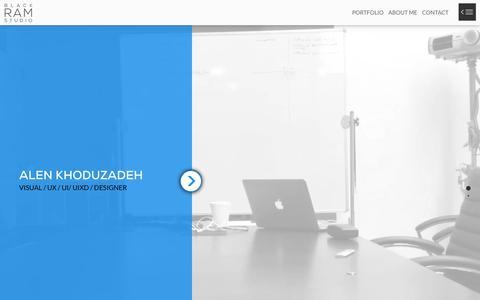 Screenshot of Home Page blackramstudio.com - UX/ UI Designer San Francisco CA   Alen khoduzadeh : BlackRamStudio - captured Jan. 5, 2016