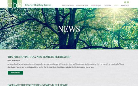 Screenshot of Press Page charterbuildinggroup.com - News - Charter Building Group - captured July 17, 2018