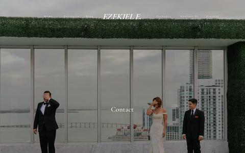 Screenshot of Contact Page ezekielephotography.com - Ezekiel e. Miami Wedding Photographers - Contact Us   - captured Aug. 2, 2019