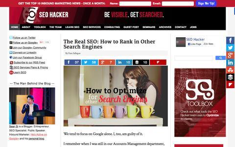 Screenshot of Home Page seo-hacker.com - SEO Philippines| SEO Hacker Blog - captured Oct. 15, 2015