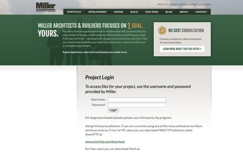 Screenshot of Login Page millerab.com - Miller Architects & Builders :: Share Files - captured Oct. 6, 2014