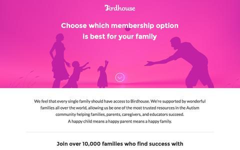 Screenshot of Signup Page birdhousehq.com - Birdhouse | Membership - captured Jan. 19, 2016