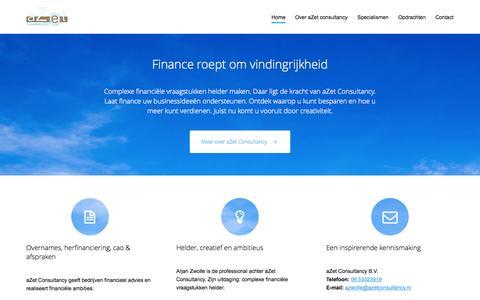 Screenshot of Home Page azetconsultancy.nl - aZetConsultancy - captured Jan. 23, 2015