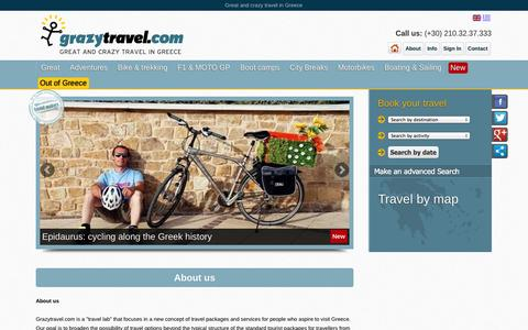 Screenshot of About Page grazytravel.com - About us | Travel advisor | Grazytravel - captured Sept. 30, 2014