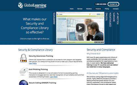 Screenshot of Products Page globallearningsystems.com - Products - Global Learning Systems - captured Sept. 30, 2014