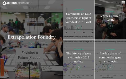 Screenshot of Blog ginkgobioworks.com - Blog - Ginkgo Bioworks - captured Nov. 7, 2016