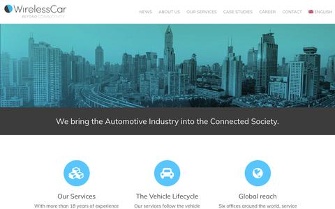 Screenshot of Home Page wirelesscar.com - WirelessCar - captured Oct. 20, 2018