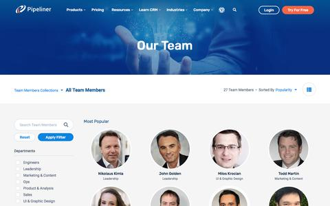 Screenshot of Team Page pipelinersales.com - Our Team - Pipeliner CRM - captured Sept. 19, 2018