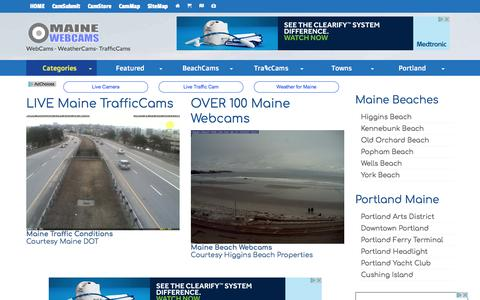Screenshot of Home Page maine-webcams.com - Maine WebCams, Maine Weather and Traffic Conditions - captured Jan. 22, 2017