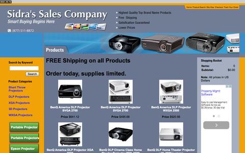 Screenshot of Products Page projectorstv.com - Optoma 3D Compatible Portable Projector - Epson Projector 4000 Lumens - captured Nov. 4, 2014