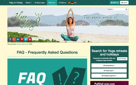 Screenshot of FAQ Page yoga-on-holiday.com - FAQ - Frequently Asked Questions - captured Dec. 18, 2016