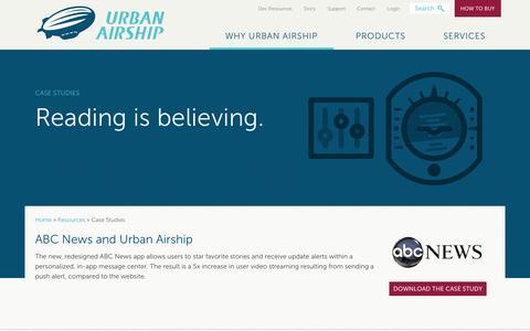 Screenshot of Case Studies Page urbanairship.com - Case Study | Urban Airship - captured Oct. 10, 2014