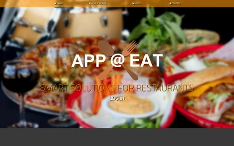 Screenshot of Home Page appateat.com - App@Eat - Restaurant ordering system - captured Oct. 4, 2014