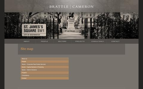 Screenshot of Site Map Page brattlecameron.com - Brattle Cameron Limited | Site map - captured Oct. 5, 2014