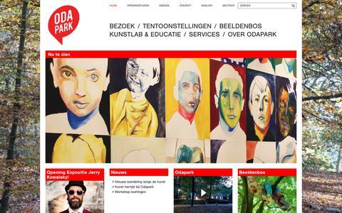 Screenshot of Home Page odapark.nl - Odapark - Center for contemporary art - Venray - captured Nov. 11, 2017