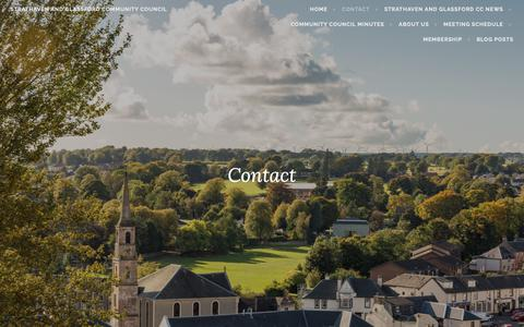 Screenshot of Contact Page wordpress.com - Contact – Strathaven and Glassford Community Council - captured Oct. 26, 2018