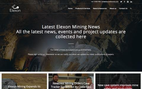 Screenshot of Press Page elexonmining.com - Elexon Mining News - Elexon Mining - captured July 17, 2018