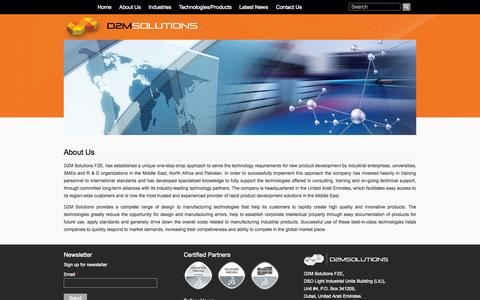 Screenshot of About Page d2m-solutions.com - About Us | D2M Solutions - captured Oct. 5, 2014