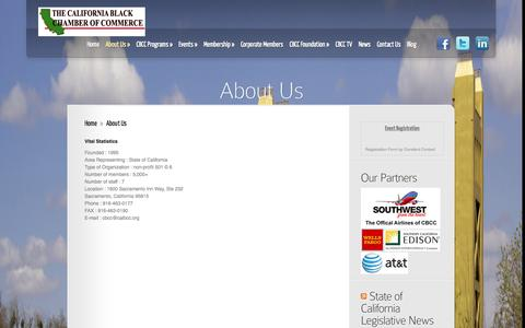 Screenshot of About Page calbcc.org - About Us | CA Black Chamber of Commerce - captured Nov. 1, 2014
