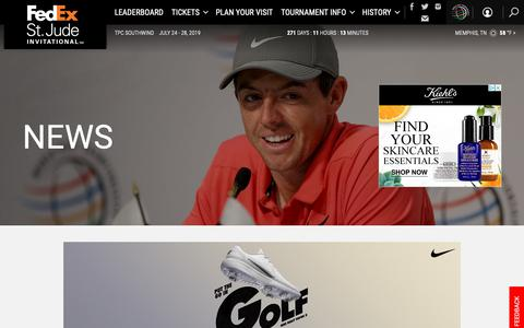 Screenshot of Press Page pgatour.com - World Golf Championships-FedEx St. Jude Invitational: News - captured Oct. 26, 2018